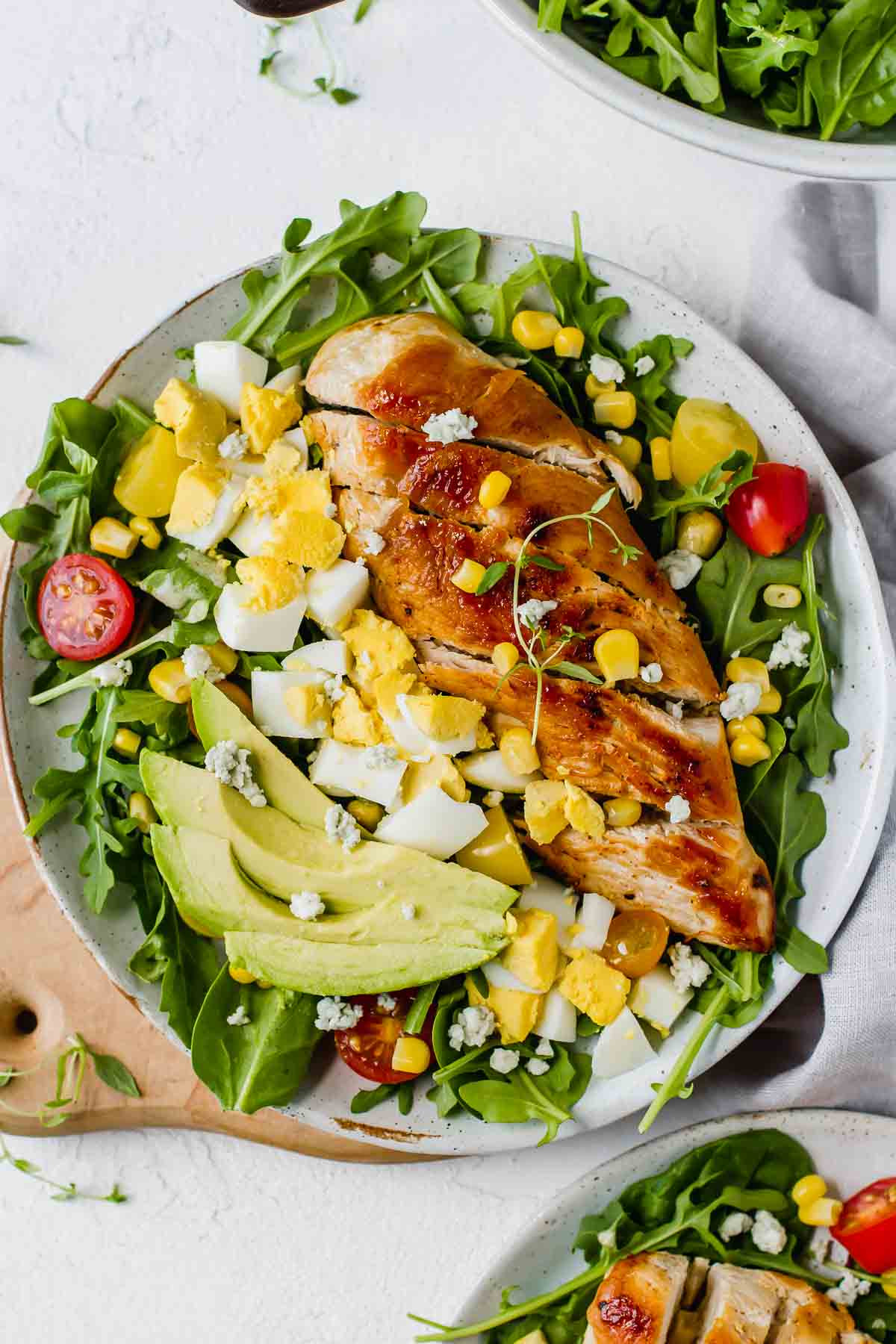 Is Chicken Salad Healthy  Healthy Chicken Cobb Salad Recipe Jar Lemons