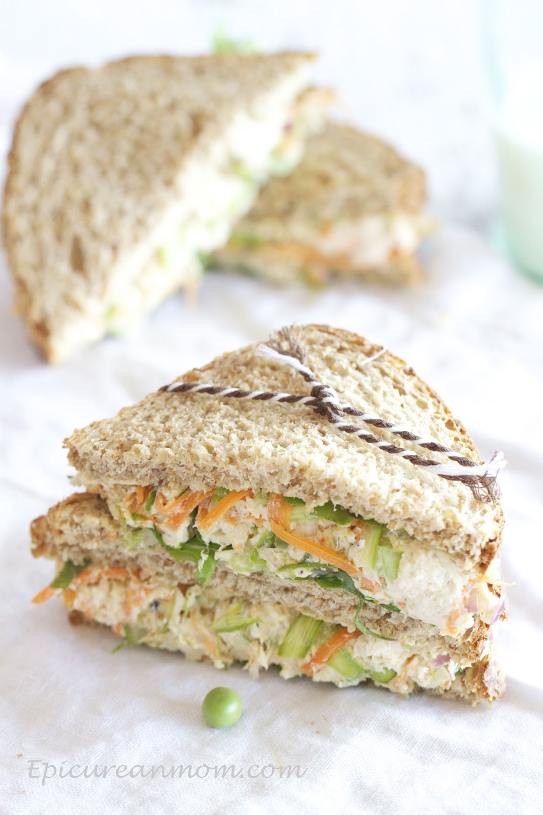 Is Chicken Salad Healthy  Epicurean Mom Healthy Chicken Salad Sandwich Recipe