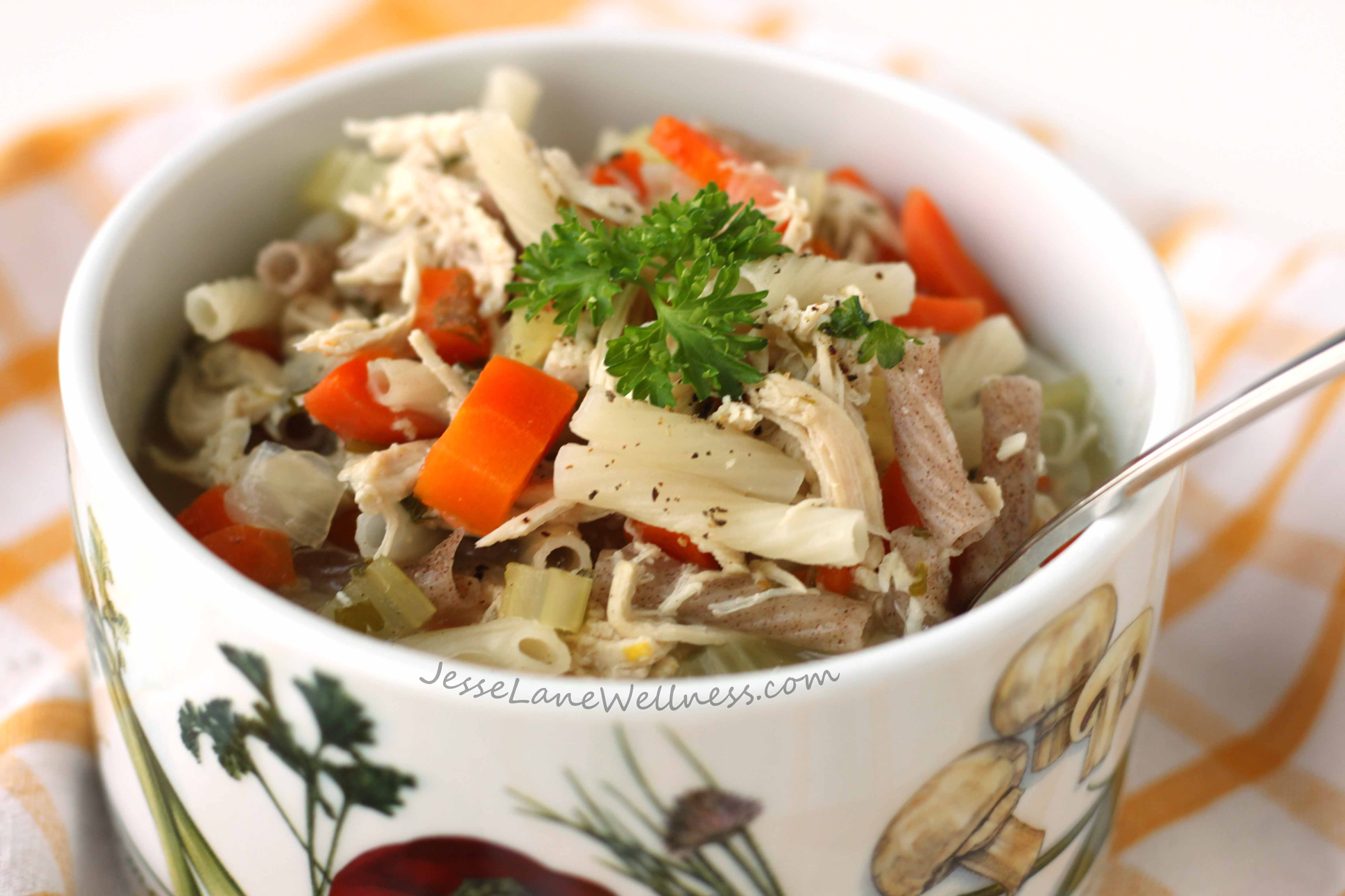 Is Chicken Soup Healthy  Healthy Chicken Noodle Soup Recipe by Jesse Lane Wellness