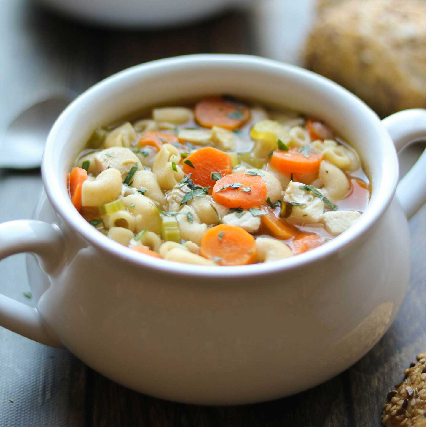 Is Chicken Soup Healthy  Quick & Easy Chicken Noodle Soup with Rotisserie Chicken