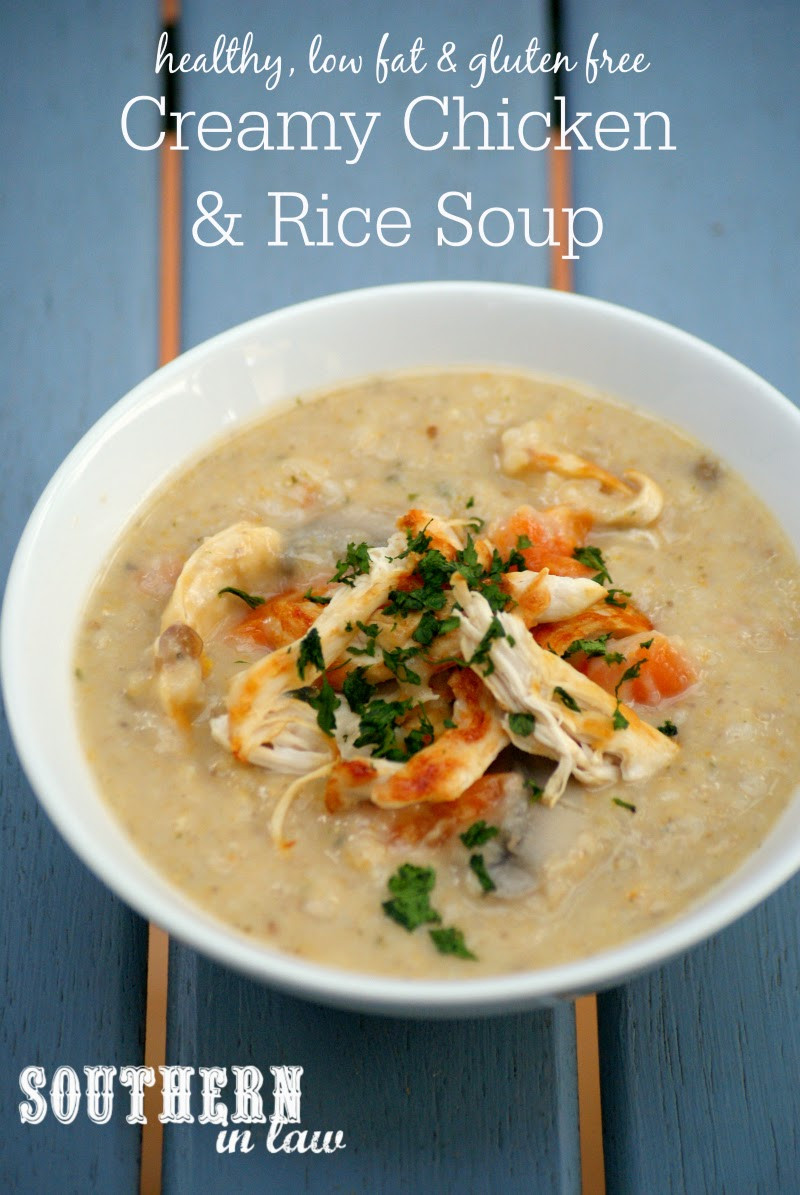 Is Chicken Soup Healthy  Southern In Law Recipe Healthy Creamy Chicken and Rice Soup