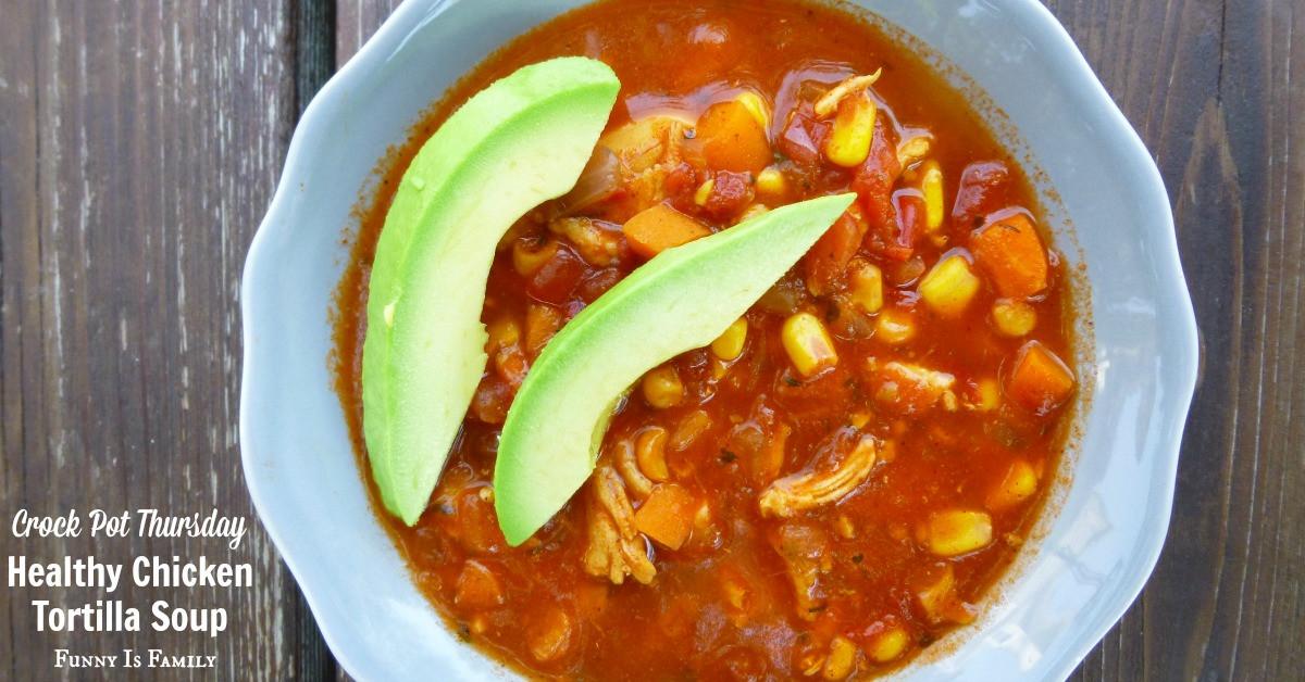 Is Chicken Soup Healthy  Crock Pot Healthy Chicken Tortilla Soup