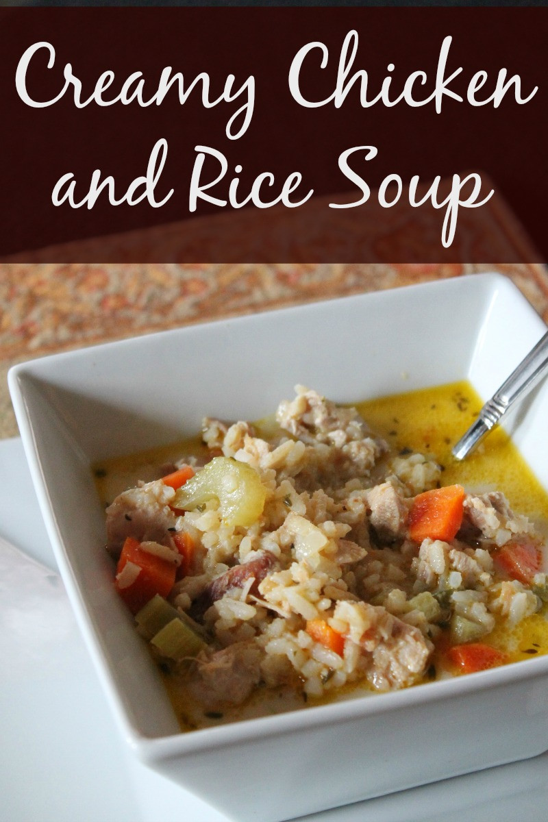 Is Chicken Soup Healthy  Healthy Creamy Chicken and Rice Soup Organize Yourself