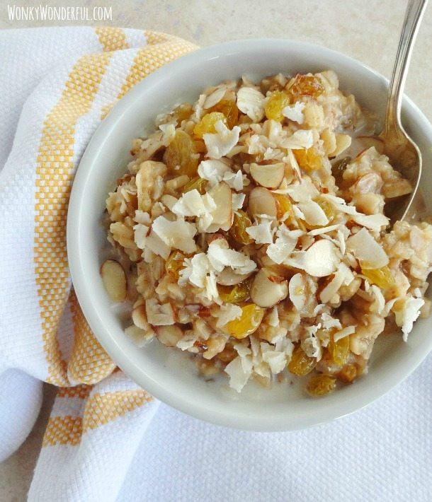Is Eating Rice For Breakfast Healthy  Maple Brown Rice Breakfast Bowl gluten free WonkyWonderful