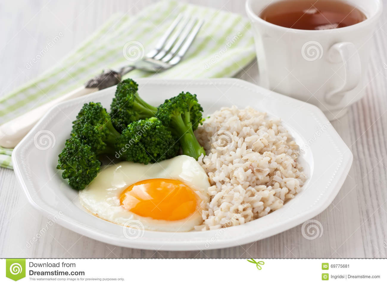 Is Eating Rice For Breakfast Healthy  Healthy egg breakfast stock image Image of natural