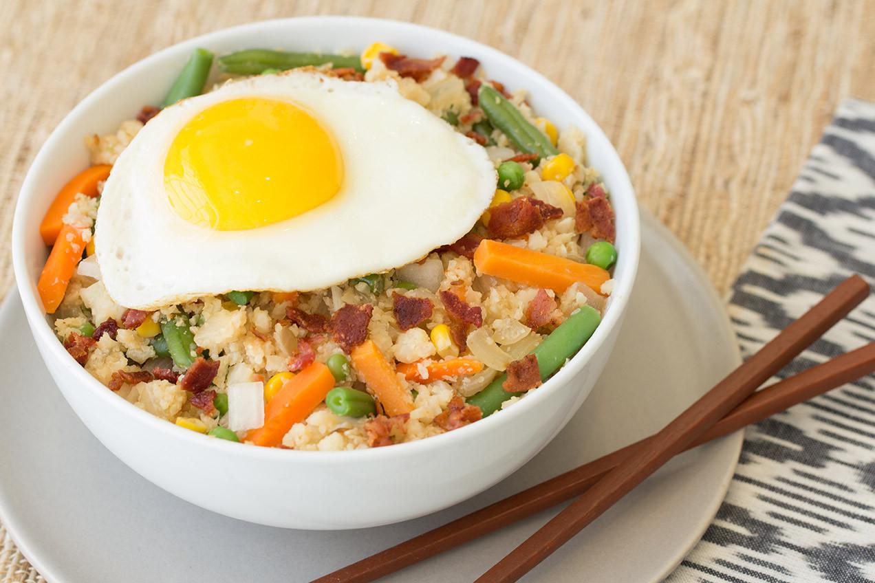 Is Eating Rice For Breakfast Healthy  Cauliflower Fried Rice Breakfast Bowl