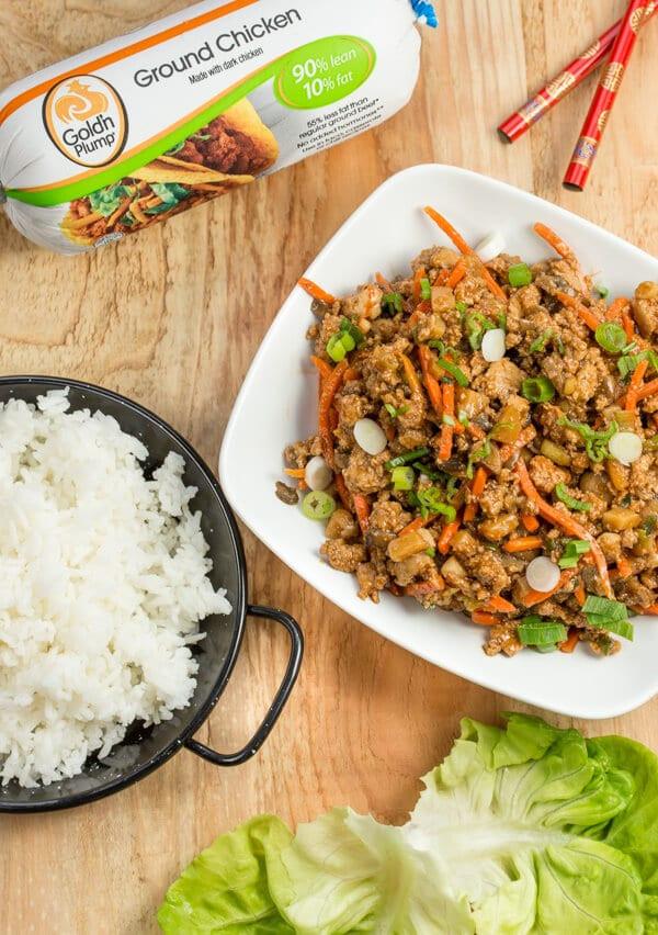 Is Ground Chicken Healthy  ground chicken lettuce wraps recipe