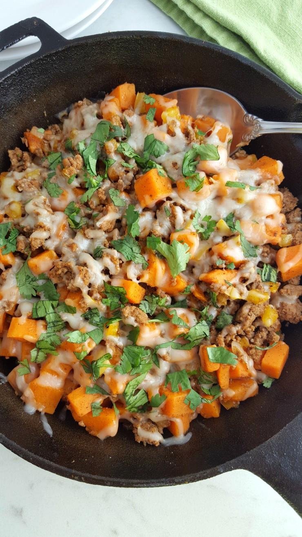 Is Ground Turkey Healthy  Ground Turkey Sweet Potato Skillet Life Love Liz