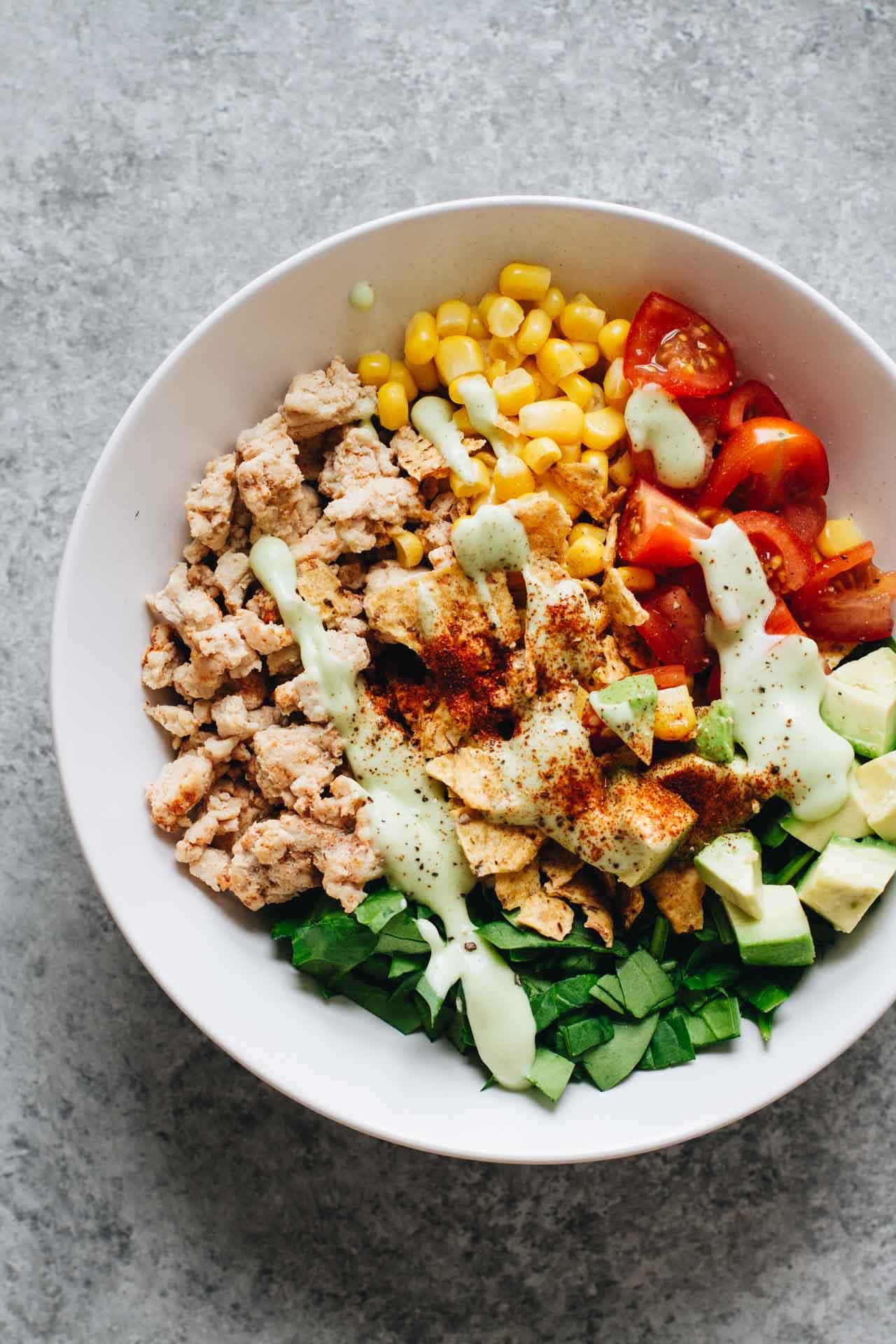 Is Ground Turkey Meat Healthy  Easy Healthy Taco Salad w Ground Turkey Jar Lemons