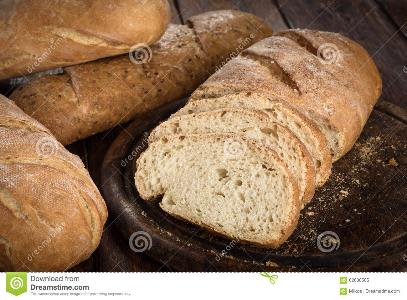 Is Homemade Bread Healthy  Yeast Free Healthy Homemade Bread Stock Image