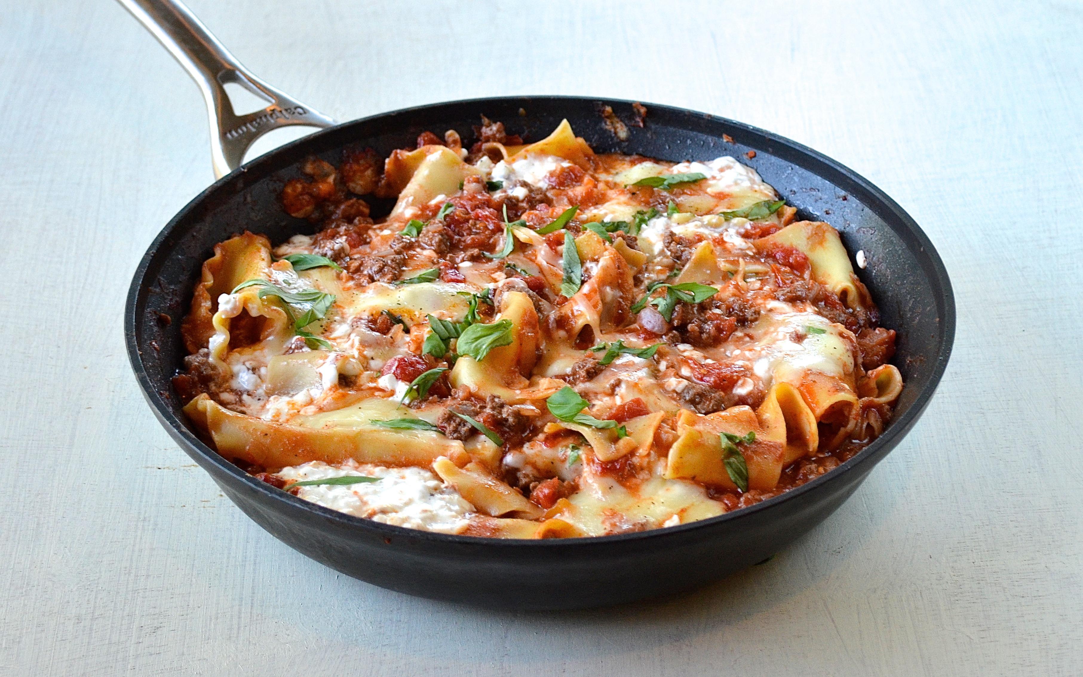 Is Lasagna Healthy  Healthy Skillet Lasagna