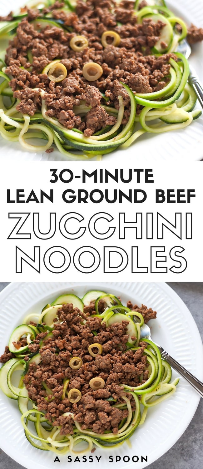 Is Lean Ground Beef Healthy  Lean Ground Beef over Zucchini Noodles Healthy Cuban