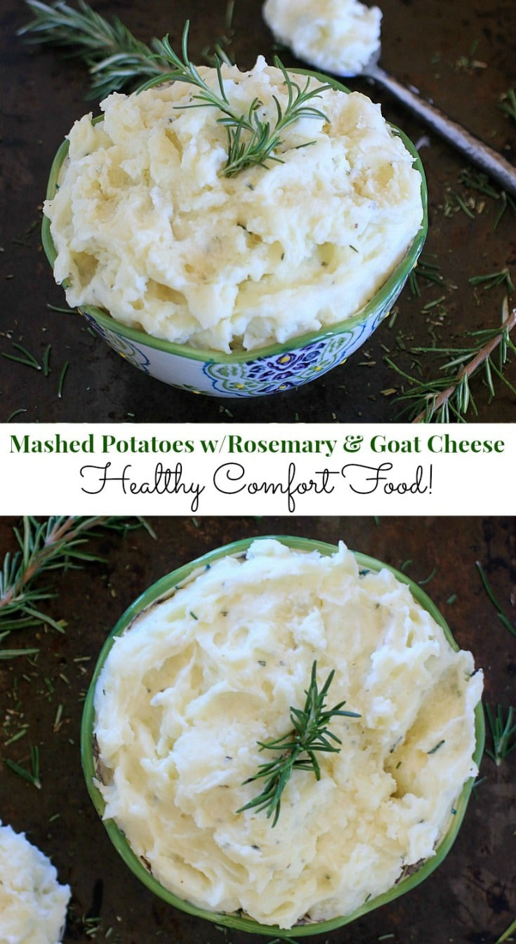 Is Mashed Potatoes Healthy  fort Food Healthy Mashed Potatoes w Rosemary & Goat