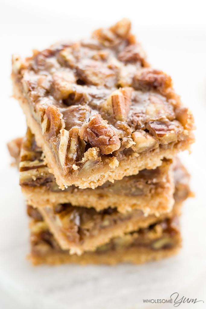 Is Pecan Pie Healthy  Paleo Pecan Pie Bars Low Carb Gluten free
