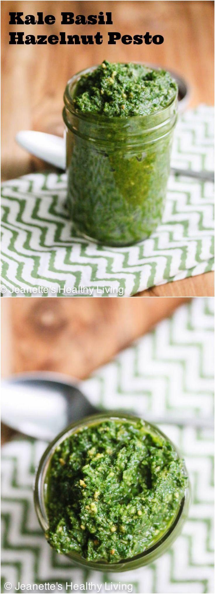 Is Pesto Sauce Healthy  Kale Basil Hazelnut Pesto Recipe