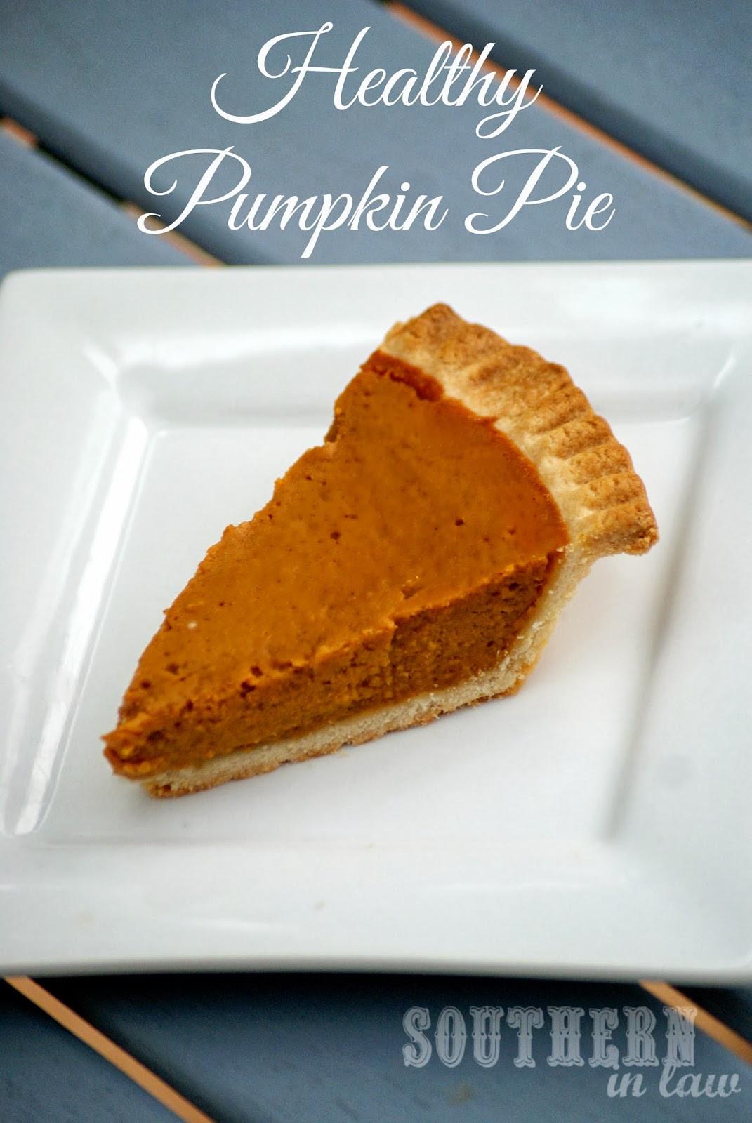 Is Pumpkin Pie Healthy  Southern In Law Healthy Pumpkin Pie Recipe