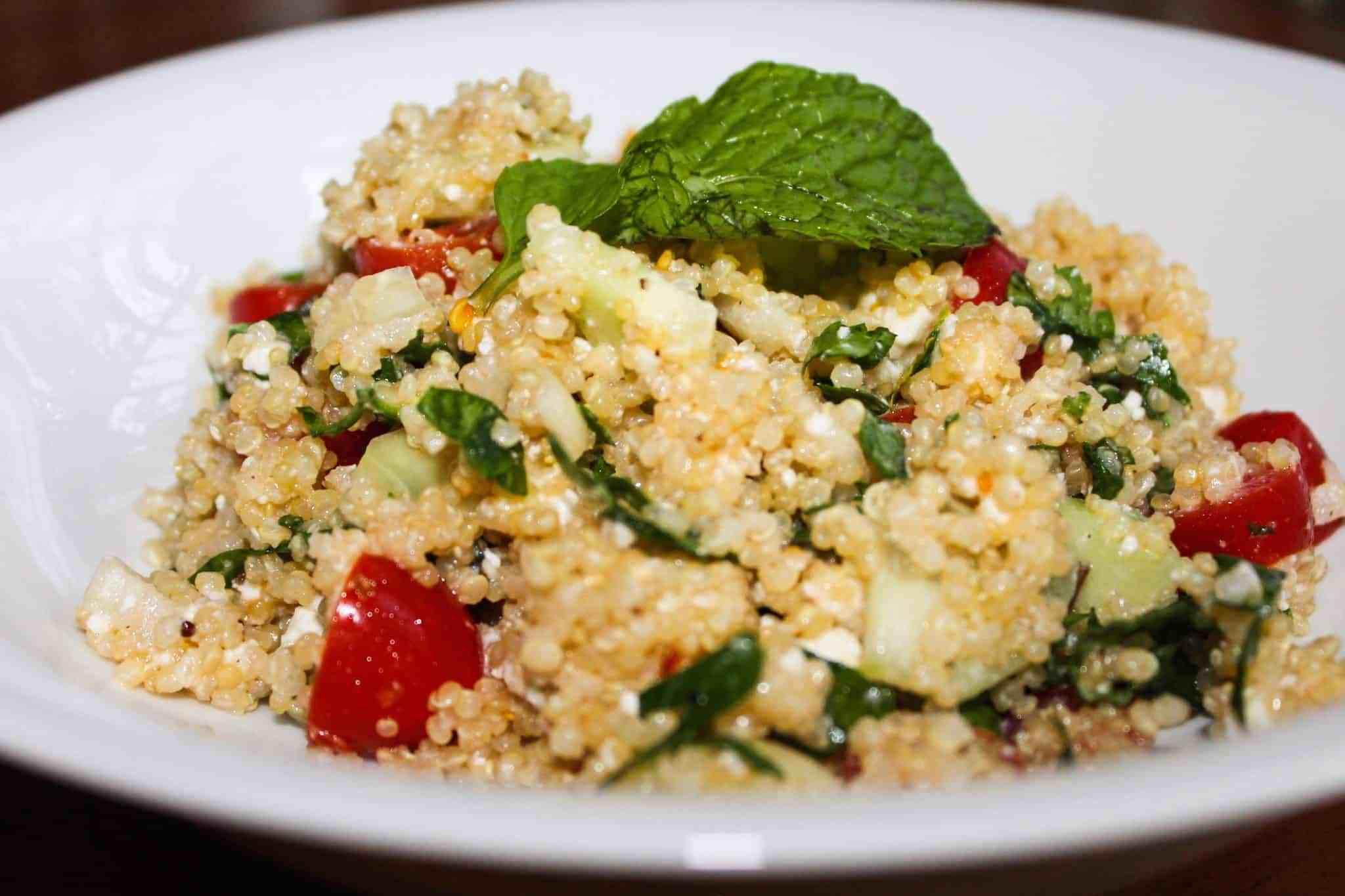 Is Quinoa Healthy For You  Healthy Feta Quinoa Salad Recipe