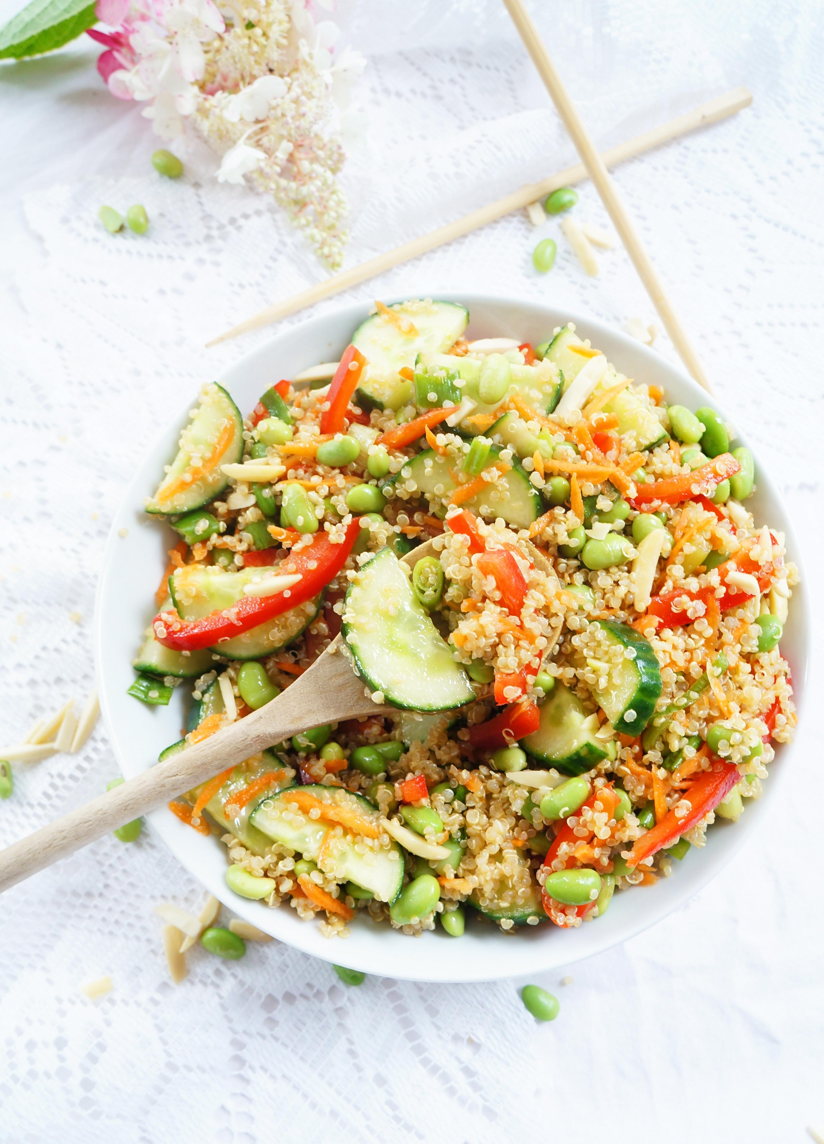 Is Quinoa Healthy  Haute & Healthy Living Asian Quinoa & Edamame Salad