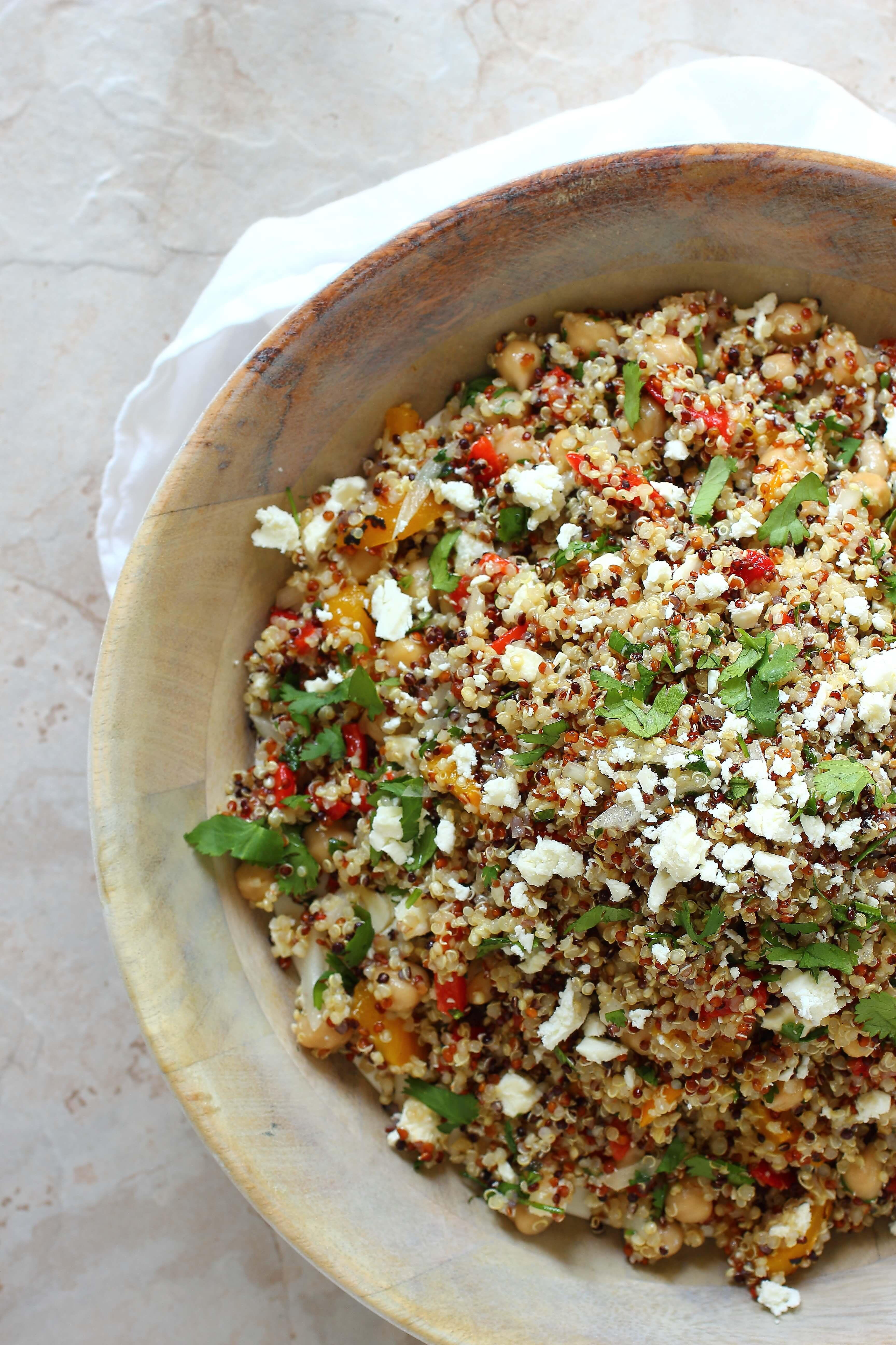 Is Quinoa Healthy  Healthy Quinoa Salad with Feta Cheese