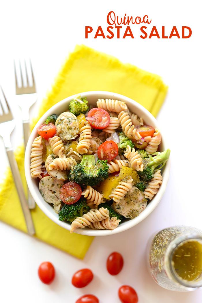 Is Quinoa Pasta Healthy  Quinoa Pasta Salad with Chicken Sausage Fit Foo Finds