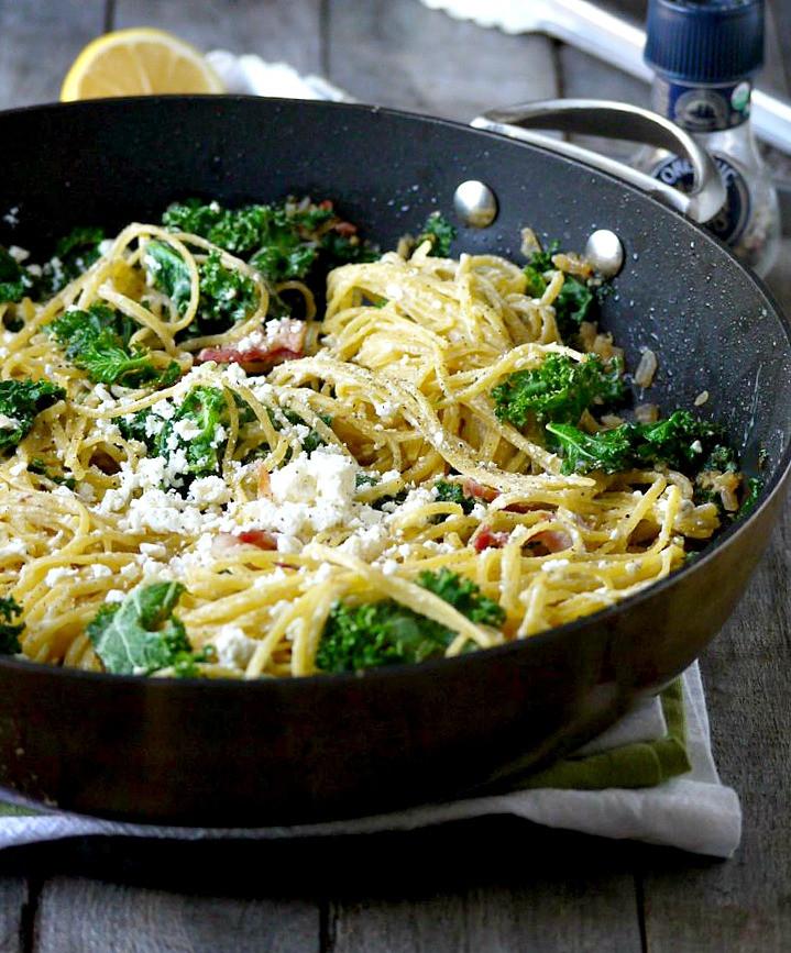 Is Quinoa Pasta Healthy  Kale Bacon and Feta Quinoa Pasta GF