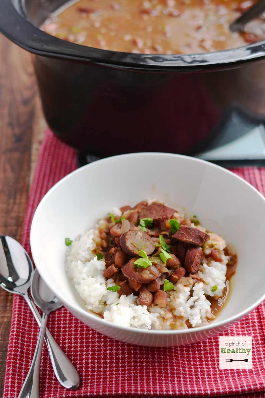 Is Red Beans And Rice Healthy  Red Beans and Rice in the Slow Cooker A Pinch of Healthy