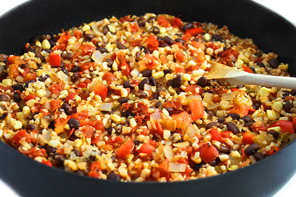 Is Rice And Beans Healthy  Healthy Mexican Cauliflower Rice and Beans with Weight