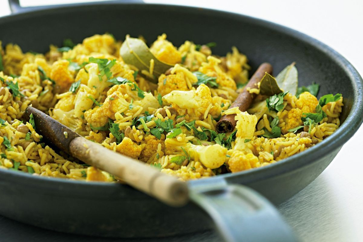 Is Rice Pilaf Healthy  Lentil and cauliflower pilaf low fat Recipes