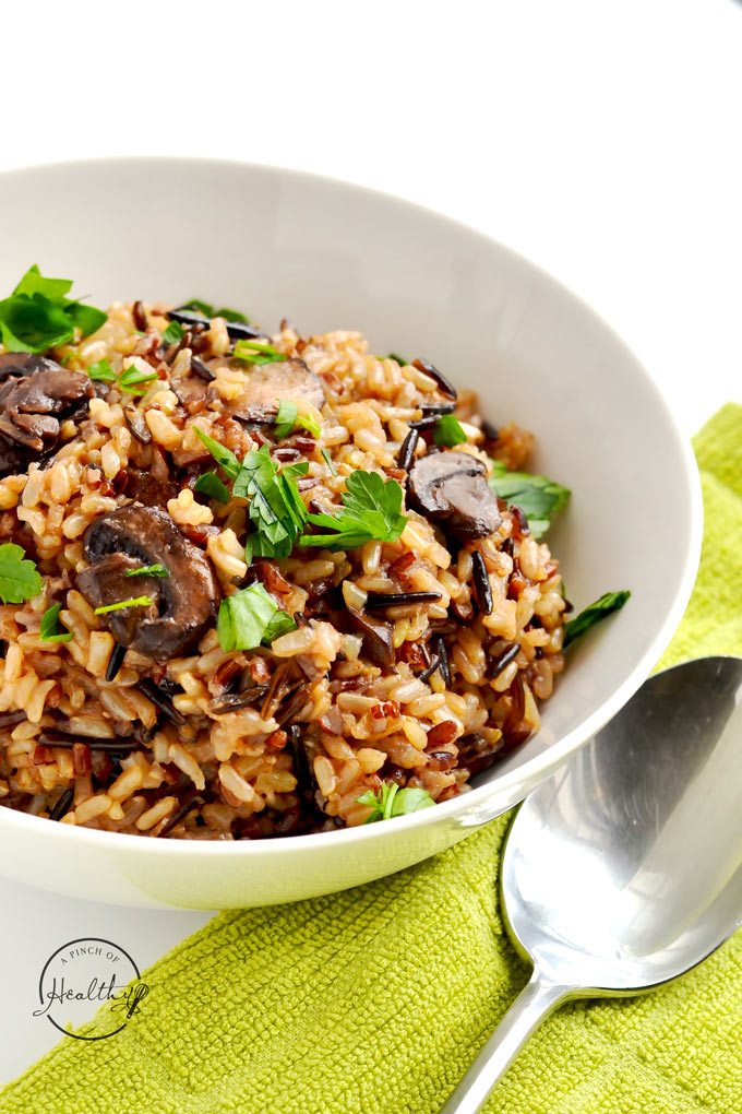 Is Rice Pilaf Healthy  Instant Pot Wild Rice Pilaf Vegan A Pinch of Healthy