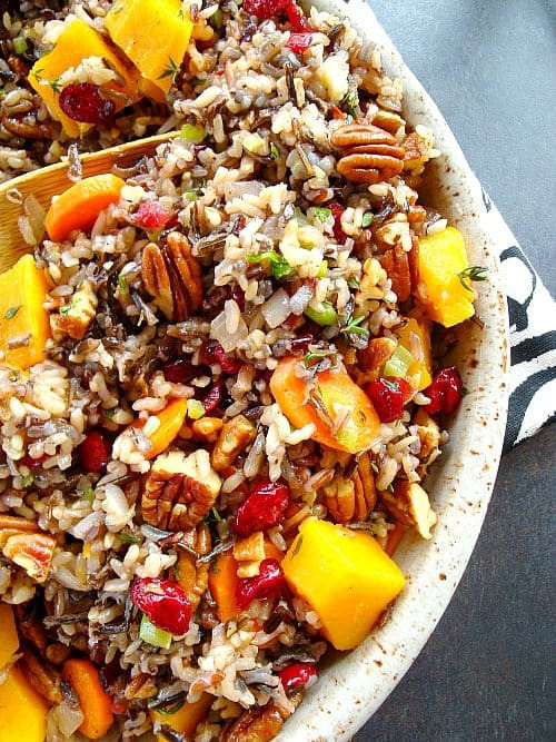 Is Rice Pilaf Healthy  Wild Rice Pilaf with Squash Cranberries and Pecans – Good