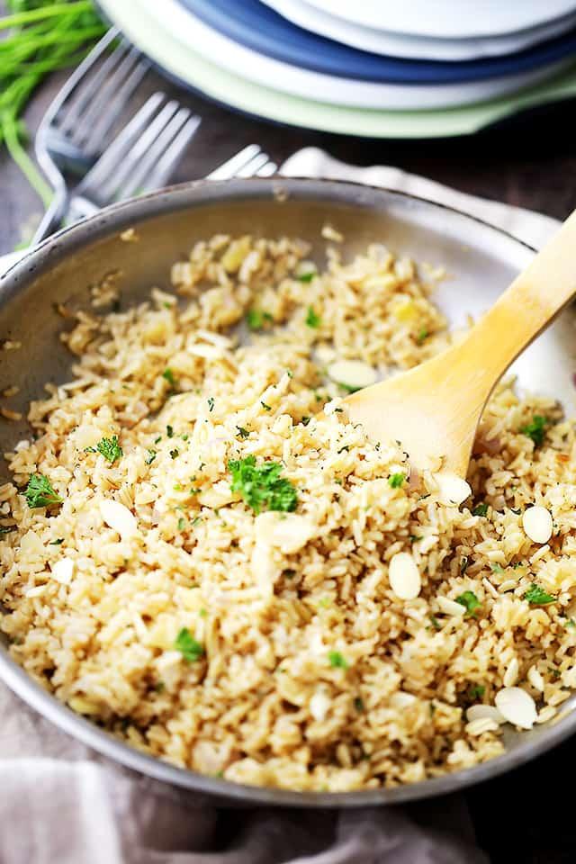 Is Rice Pilaf Healthy  Almond Brown Rice Pilaf Diethood