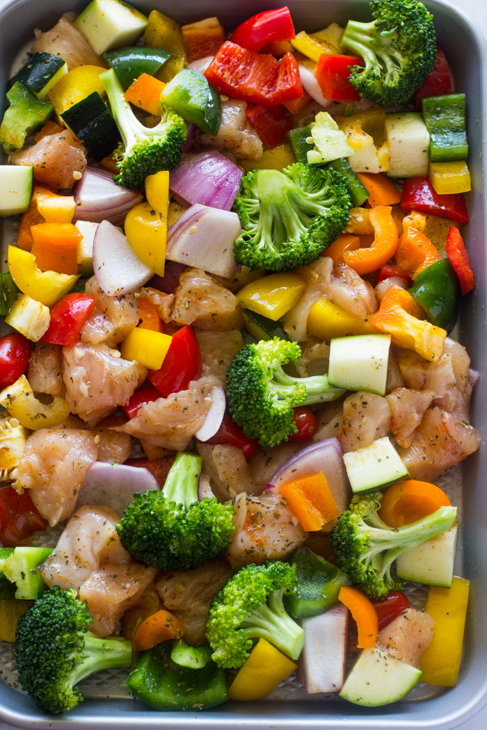 Is Roasted Chicken Healthy  15 Minute Healthy Roasted Chicken and Veggies Video
