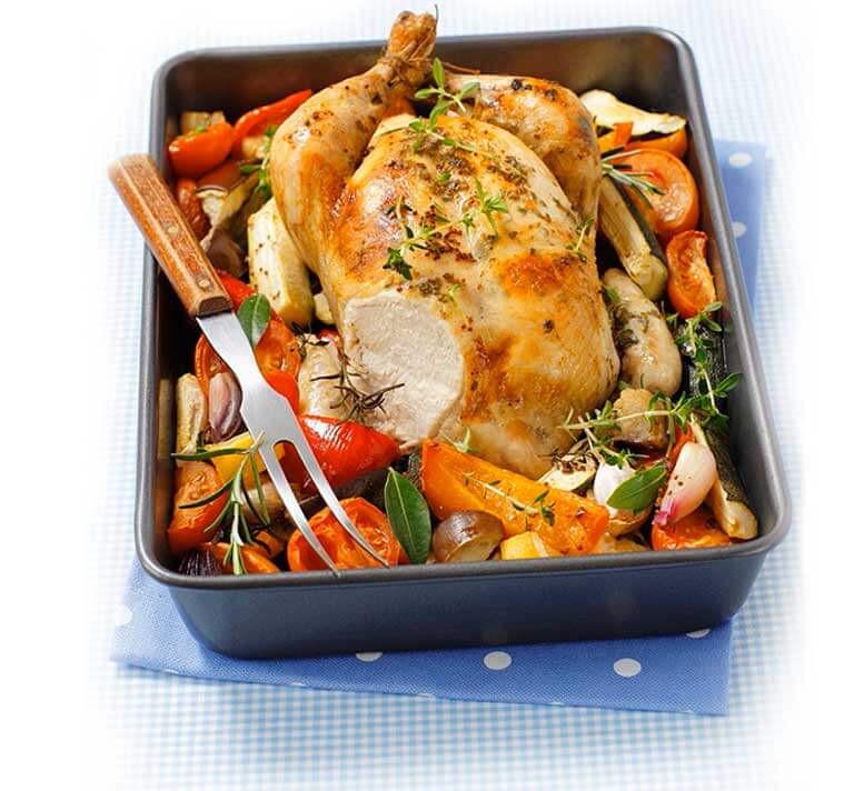 Is Roasted Chicken Healthy  Roast chicken & Mediterranean veg
