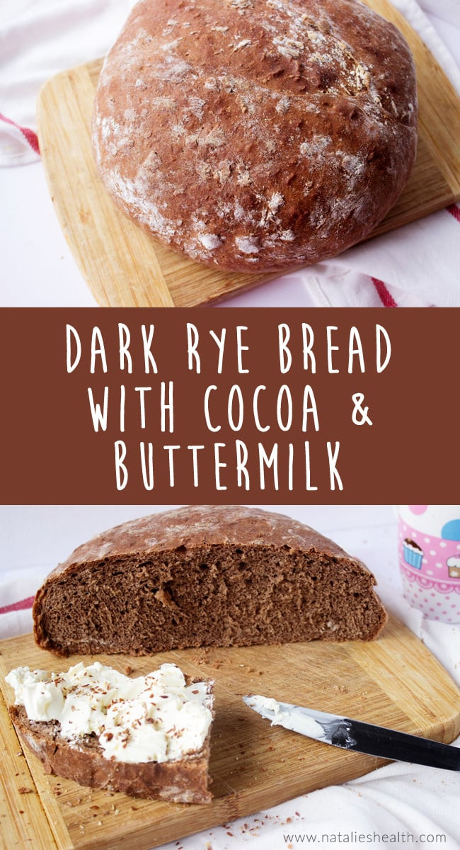Is Rye Bread Healthy  Homemade Dark Rye Bread with Cocoa Natalie s Happy Health