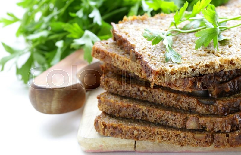 Is Rye Bread Healthy  Wholegrain rye bread with bran and seeds healthy eating
