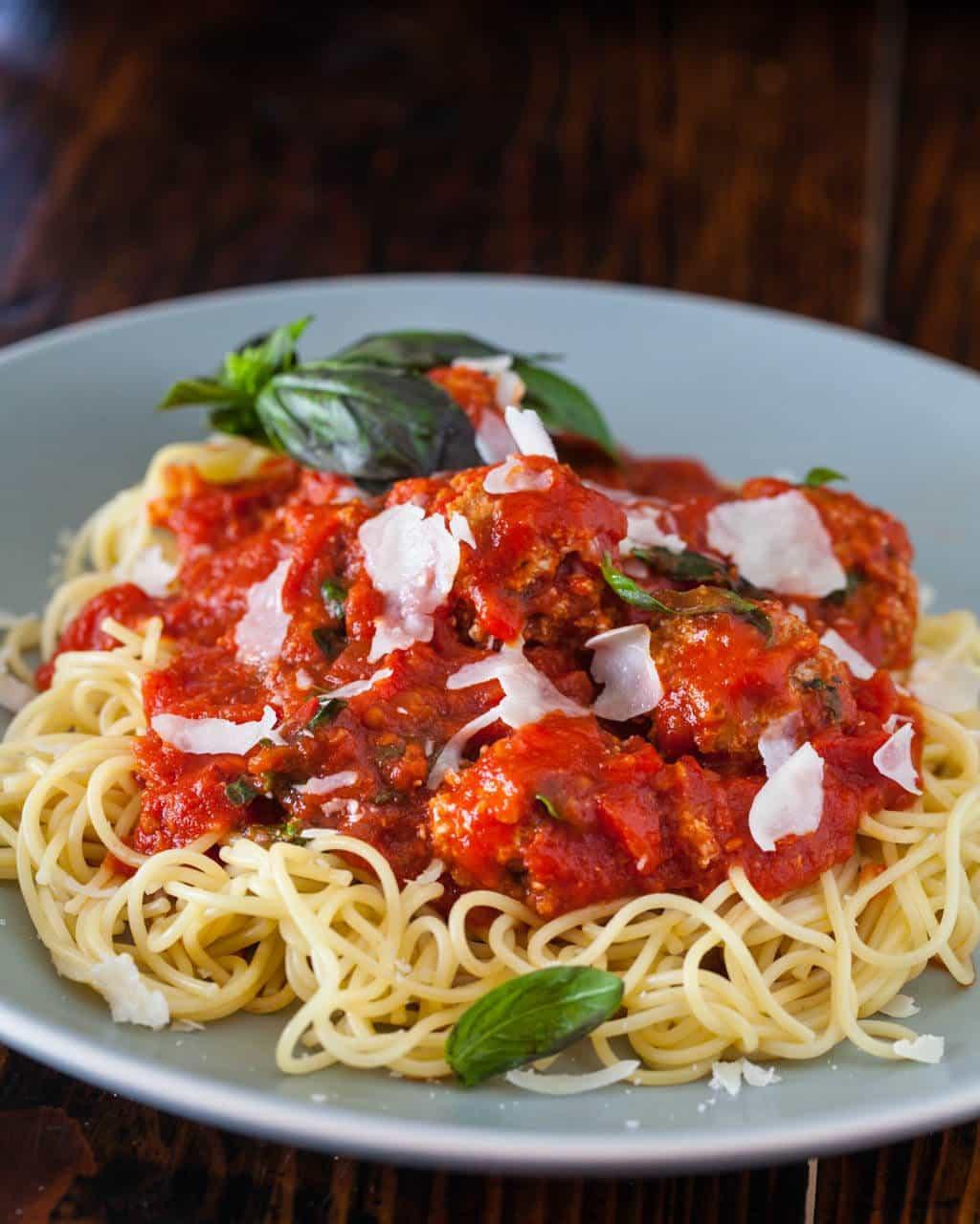 Is Spaghetti Healthy  Healthy Spaghetti and Meatballs 2 Secret Ingre nts
