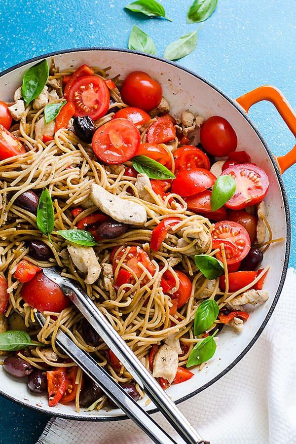 Is Spaghetti Healthy  Chicken and Whole Wheat Spaghetti Recipe iFOODreal