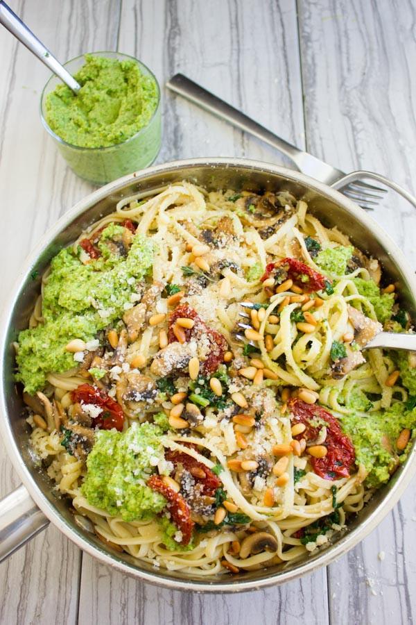 Is Spaghetti Healthy  Broccoli Pesto Healthy Pasta Recipe • Two Purple Figs