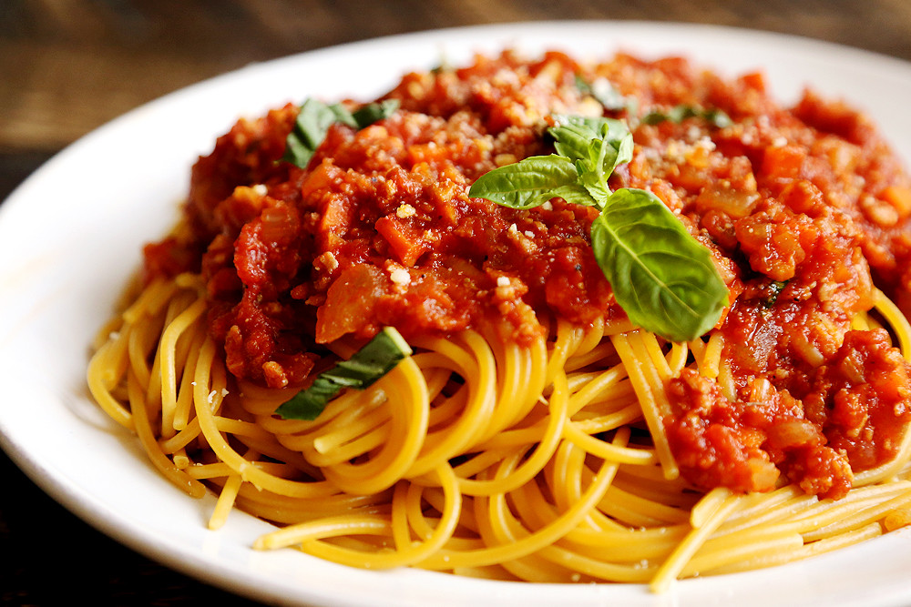 Is Spaghetti Healthy  Vegan Spaghetti Bolognese Noodles and Pasta Recipes