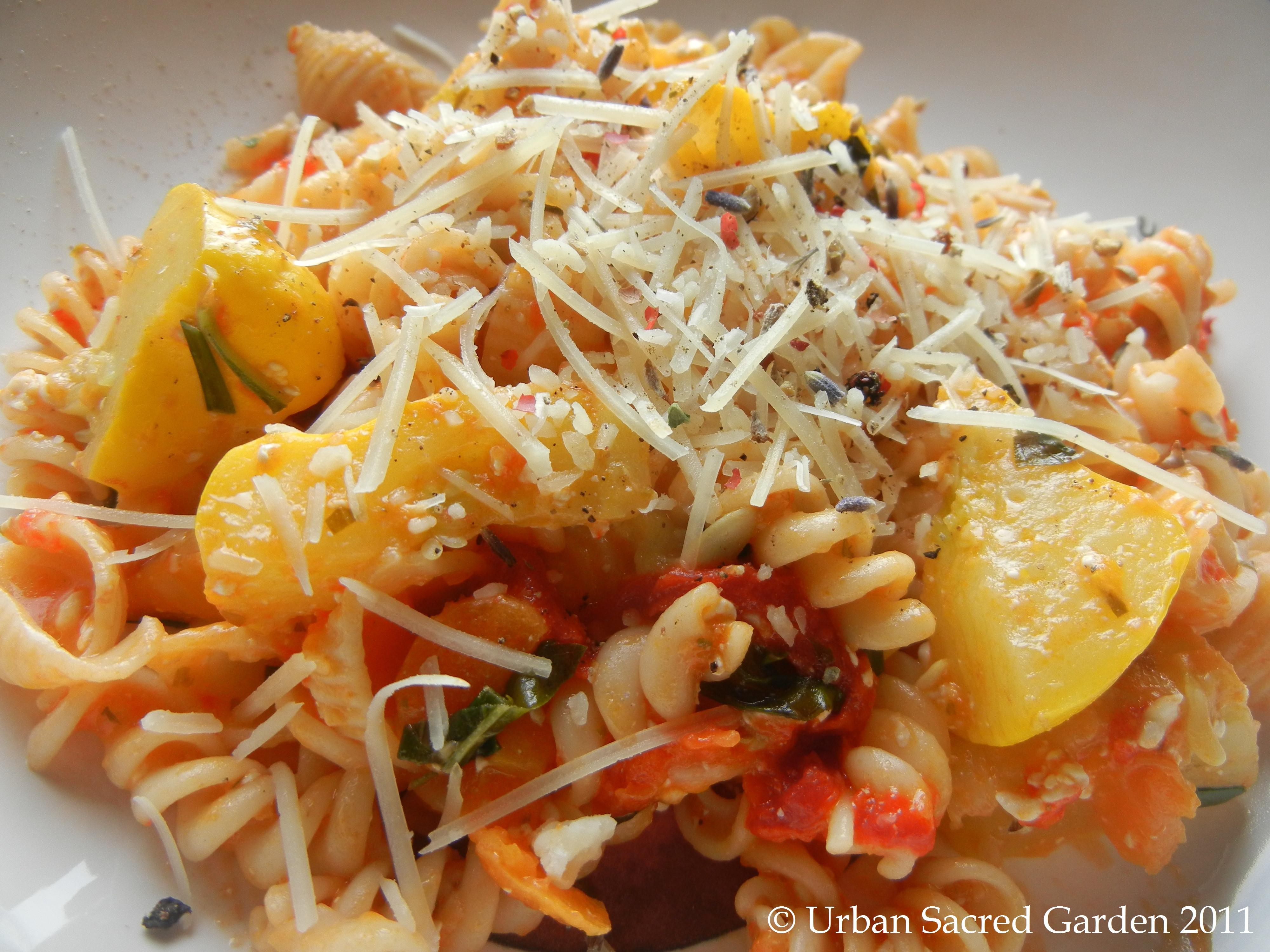 Is Spaghetti Squash A Summer Squash  Fresh Summer Squash Pasta Urban Sacred Garden