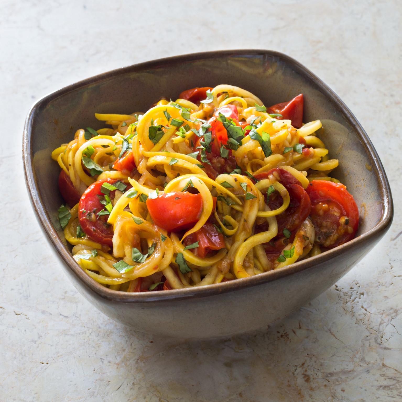 "Is Spaghetti Squash A Summer Squash  Paleo Summer Squash ""Spaghetti"" with Roasted Cherry Tomato"