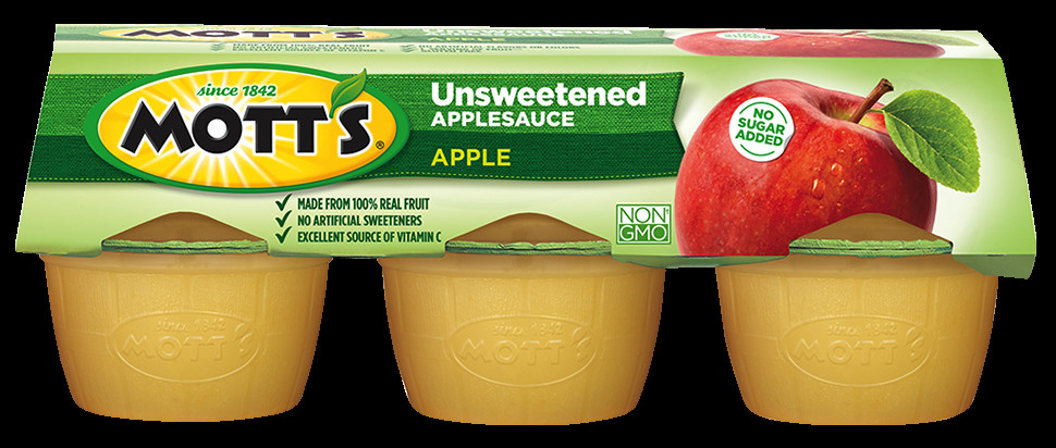 Is Unsweetened Applesauce Healthy  Amazon Mott s Unsweetened Applesauce 3 9 oz cups 6