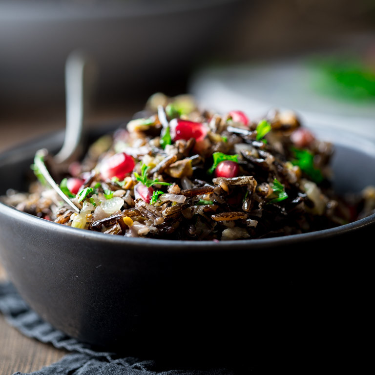 Is Wild Rice Healthy  wild rice pilaf with pistachios and pomegranates Healthy