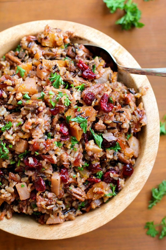 Is Wild Rice Healthy  Wild Rice Stuffing with Butternut Squash Pears and