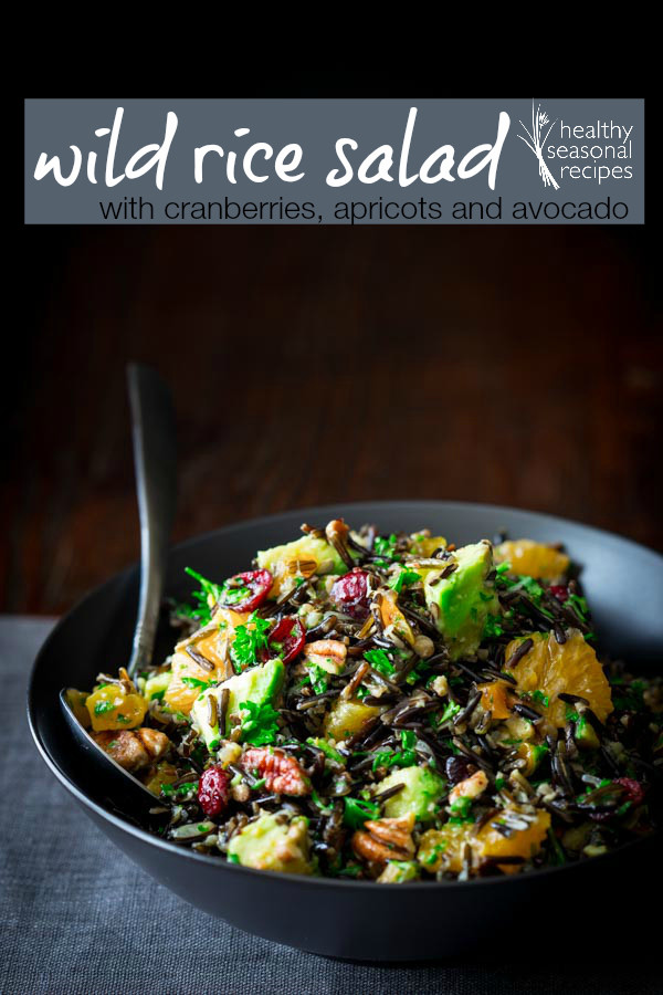 Is Wild Rice Healthy  wild rice salad with cranberries apricots and avocado
