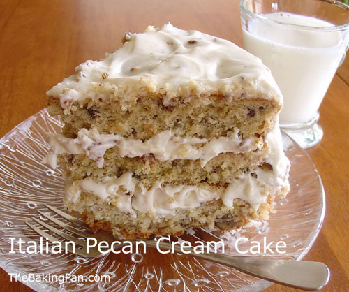 Italian Cream Wedding Cake Recipe  Italian Pecan Cream Cake Recipe