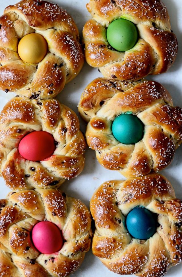 Italian Easter Bread  Chocolate Marbled Italian Easter Bread