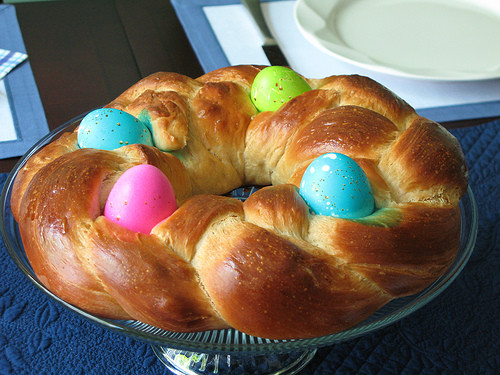 Italian Easter Bread With Eggs  Braided Easter Egg Bread Recipe Cook Italian