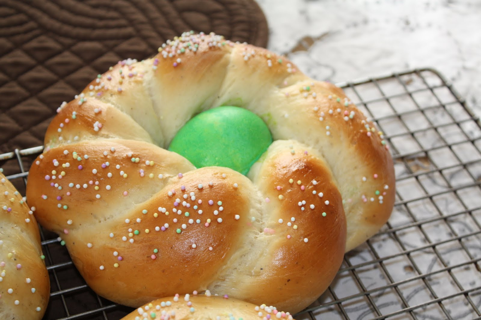Italian Easter Bread With Hard Boiled Eggs  Easter Egg Bread