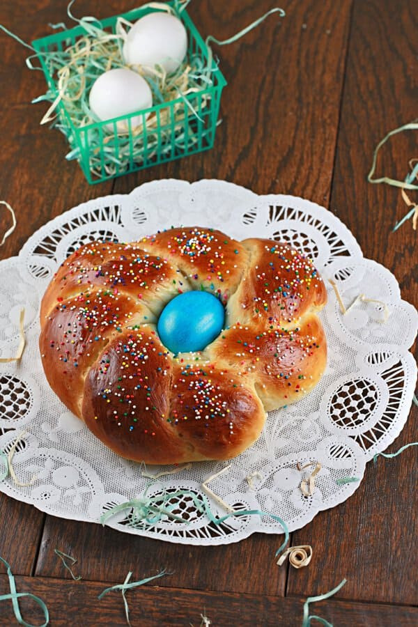 Italian Easter Bread With Hard Boiled Eggs  Italian Easter Bread Recipe With Hard Boiled Egg Center
